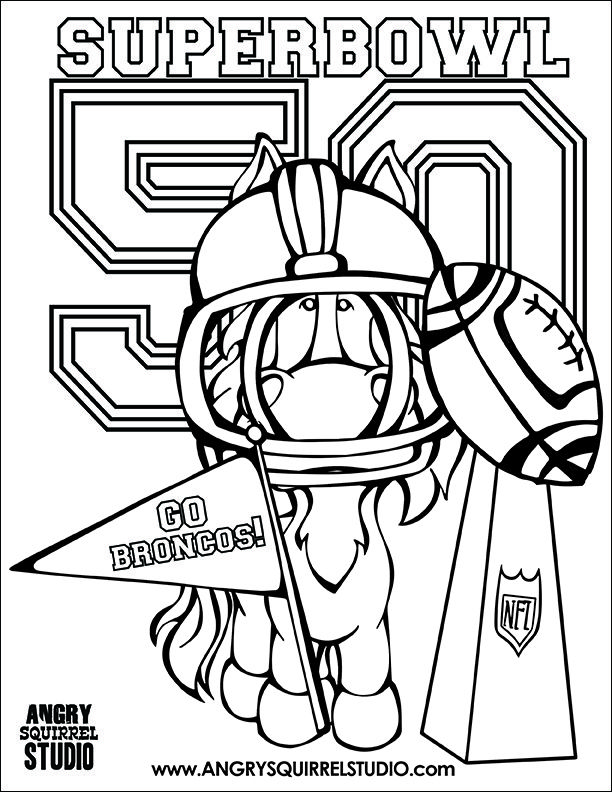 FREE SUPERBOWL 50 COLORING PAGE! Get out those crayons and celebrate ...