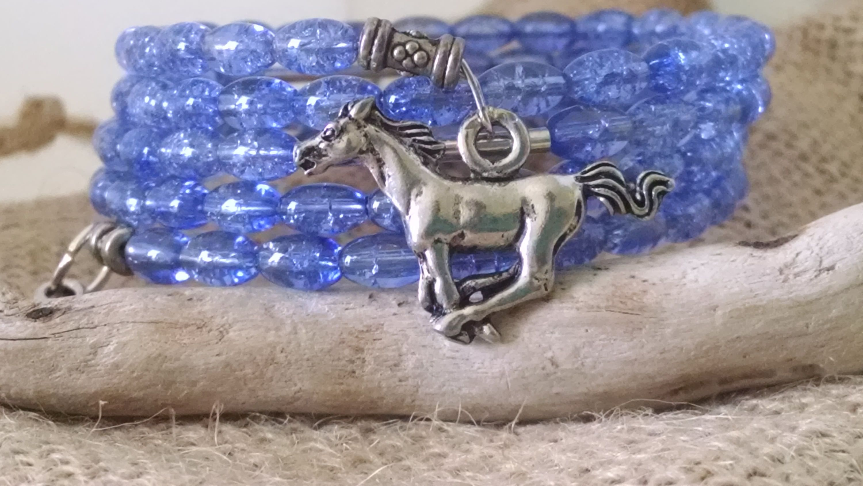 wrap bracelet with horse charms wrap charm bracelet beaded