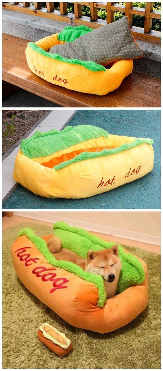 Simulation Hot Dog Shape Detachable Pet Bed Sale, Price