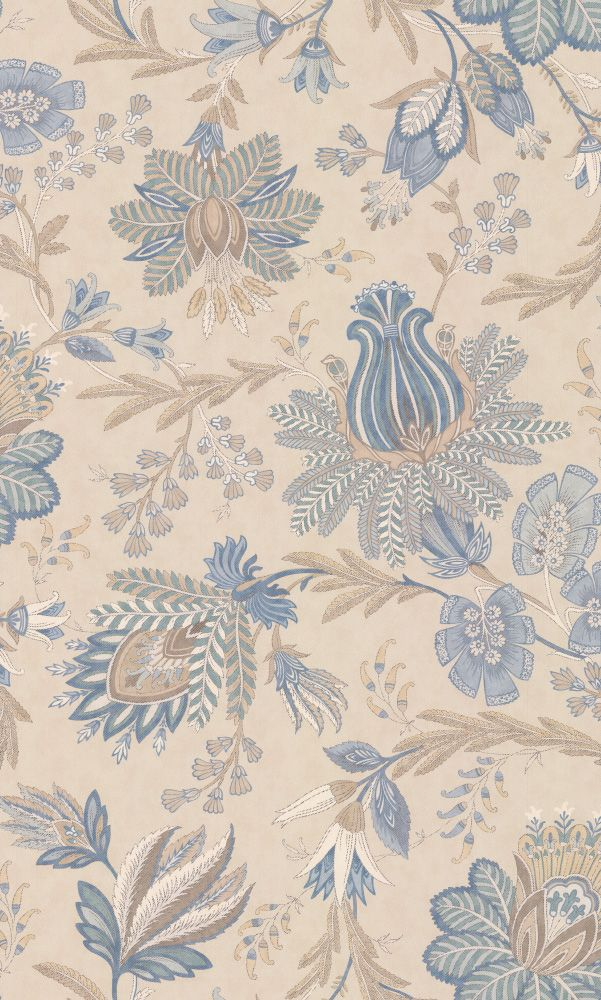 Casimir By Colefax And Fowler Old Blue Wallpaper 7162