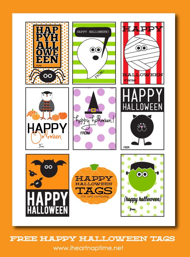 Happy Halloween Tags {free printable} I Heart Nap Time | I Heart Nap ...