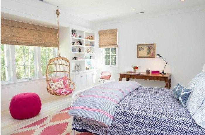kinderzimmer komplett einrichten hängestuhl doppelbett hocker - kinderzimmer kreativ gestalten ideen