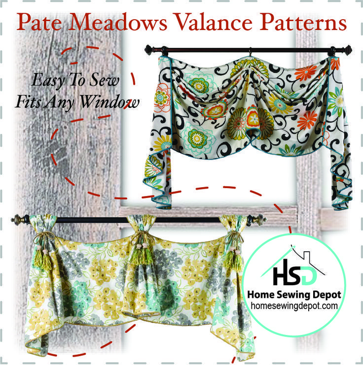 Looking for an easy to sew project? This Pate Meadows Valance Pattern is the perfect DIY sewing project. Click through to get the pattern now! #sewingprojects #sewingdiyprojects #easysewingprojects #valancepatterns #valancesewingpatterns