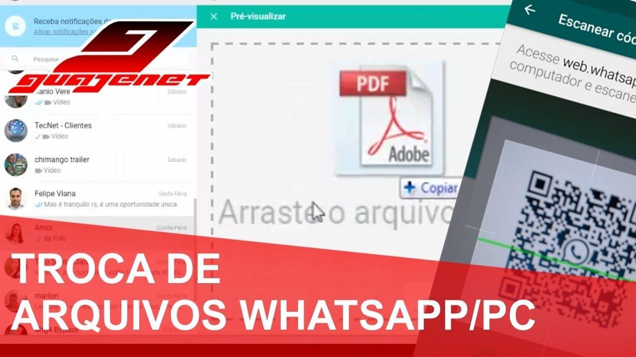 Como Enviar E Receber Arquivos Do Pc Direto No Whatsapp Canal