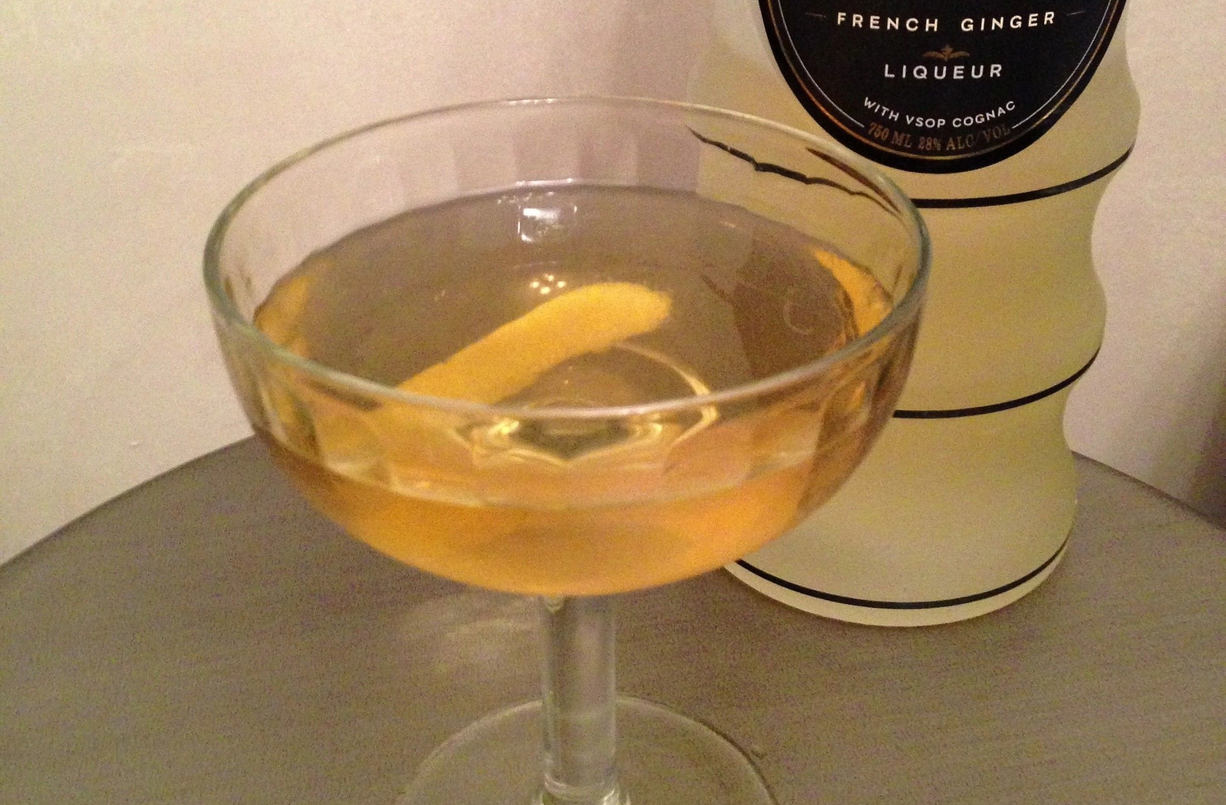Maureen O'Hara - Add the Irish whiskey, dry vermouth, Domaine de Canton and habanero shrub and hopped grapefruit bitters to a chilled mixing glass. Add ice and stir until well chilled. Strain into a chilled cocktail glass. Garnish with a lemon twist