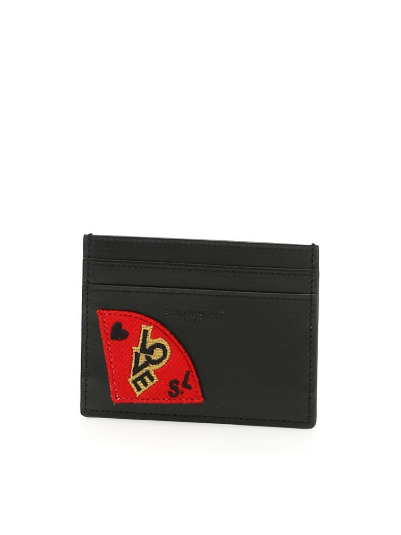 new product 03668 9ce58 SAINT LAURENT Ysl Porta Carte Di Credito Patch Love. #saintlaurent ...