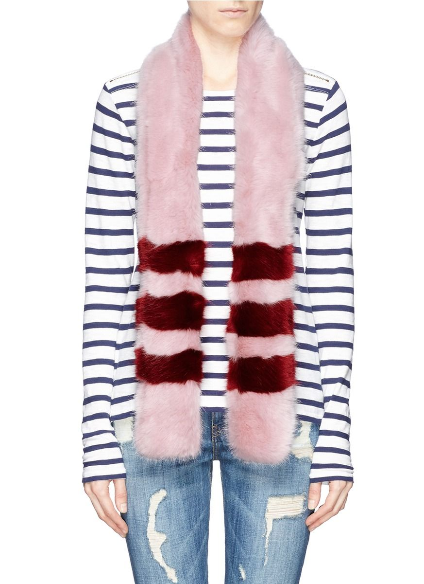 Shrimps striped faux fur stole Cheap Sale 2018 Newest For Sale Buy Authentic Online yTaYOy99