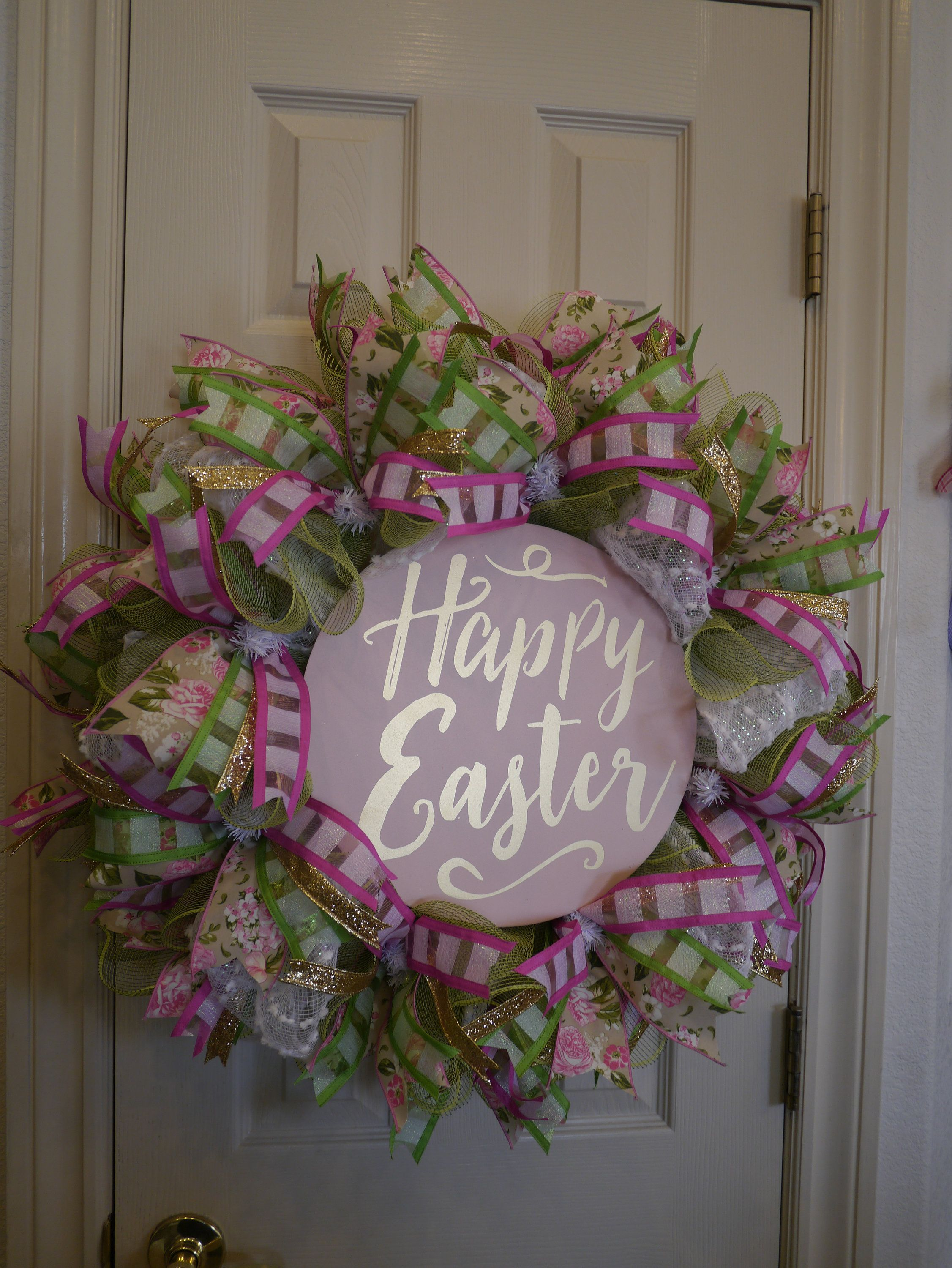 Happy Easter Wreath, Easter Front Door Wreath, Spring Wreath, Easter ...