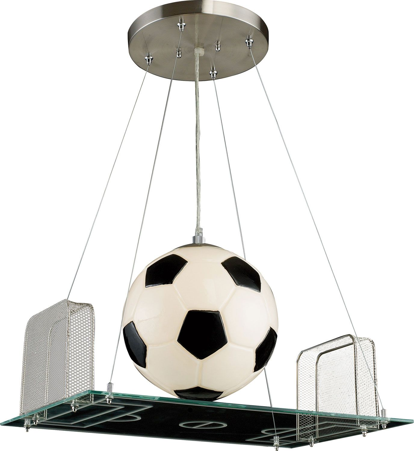 One Light Pendant - for the football/soccer enthusiast.