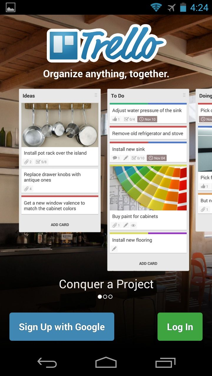 Trello For Android (1) Pot rack, Old refrigerator