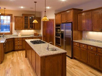 Resultado de imagen para cocinas con piso de madera | escalera negra ...