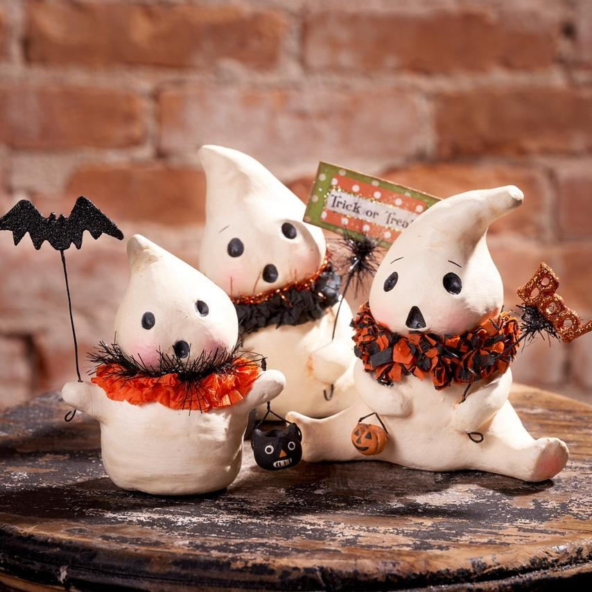 Ghostie Boos Halloween crafts for kids, Halloween clay