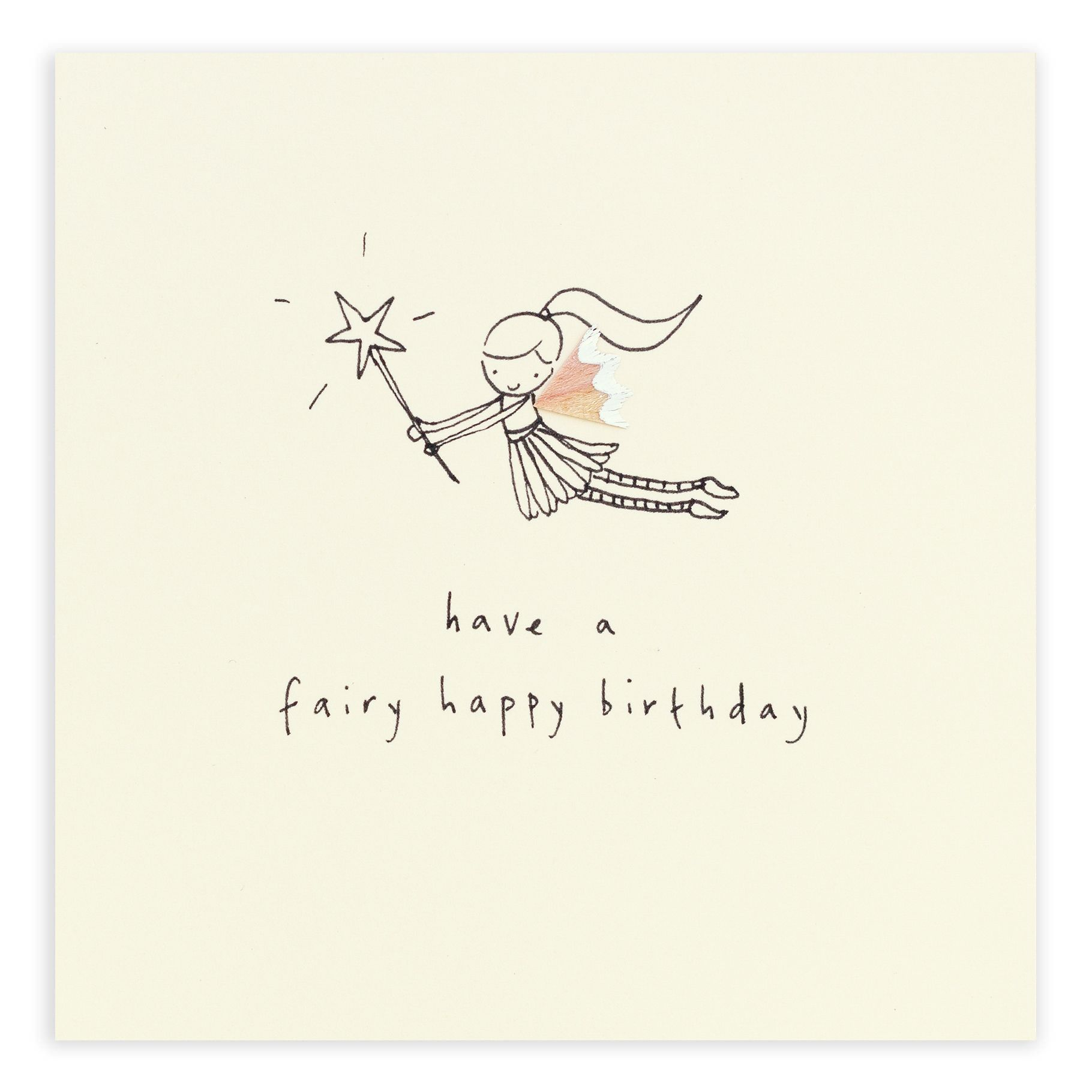 A beautiful fairy bringing birthday wishes