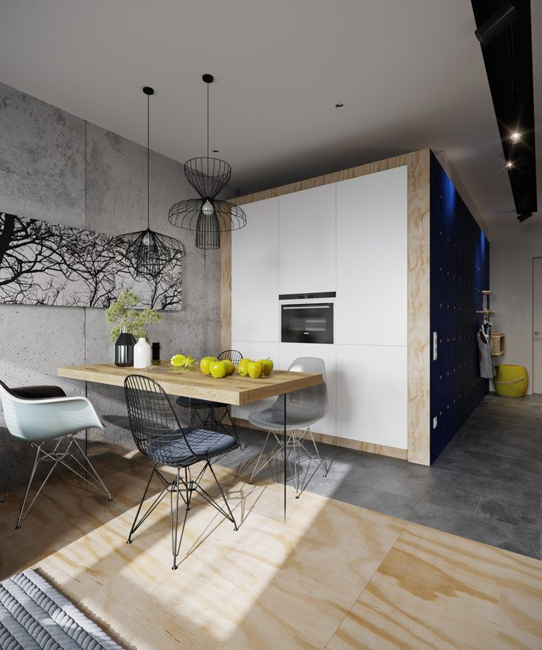 Modern Kitchen Designs 2014: Small Apartment, Moscow, 2014