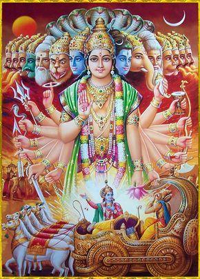 Lord Krishna showing His Viswaroopam to Arjuna | images in 2019
