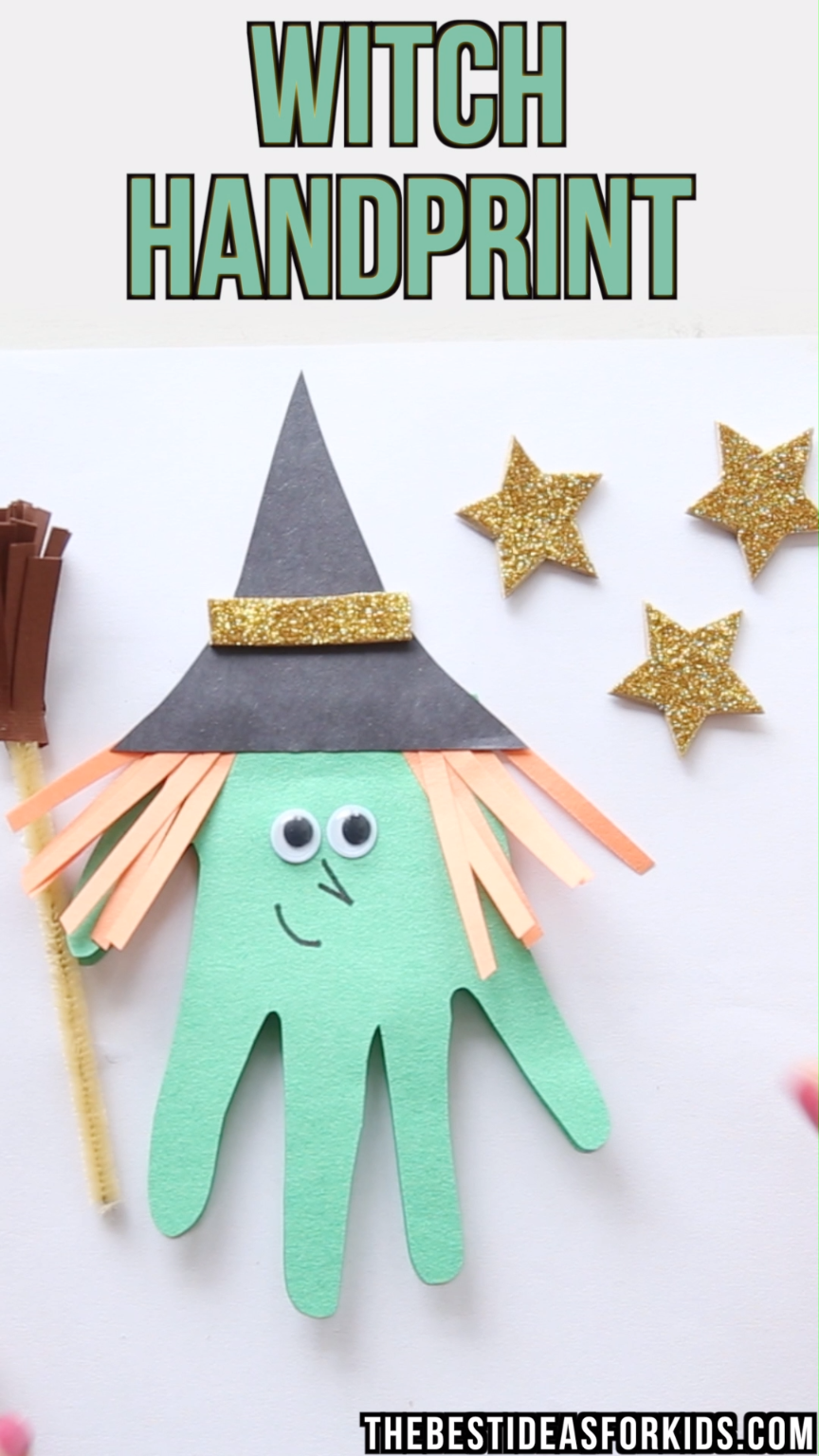 Handprint Witch #craftsforkids
