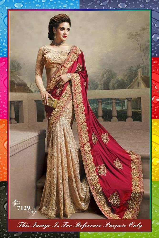 Women's Clothing New Collection Indian Bollywood Party Wear Sari Georget Bollywood Wedding Saree Excellent Quality
