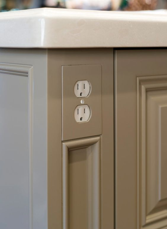 Have The Outlet Covers Color Match The Wall Color. Planning Electrical  Outlets And Switches   Great Info To Know If You Are Planning A Bathroom Or  Kitchen ...