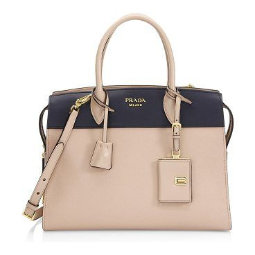 cac9106d0333 ... sweden large saffiano city leather explanade tote by prada. structured  tote of mixed saffiano and