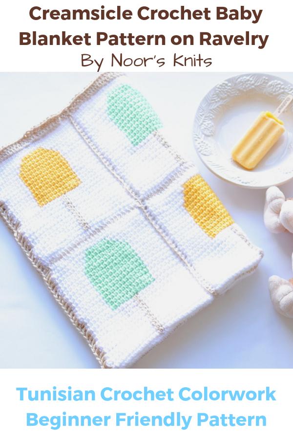 Creamsicle Crochet Baby Blanket pattern by Noorain Nizami | Baby ...