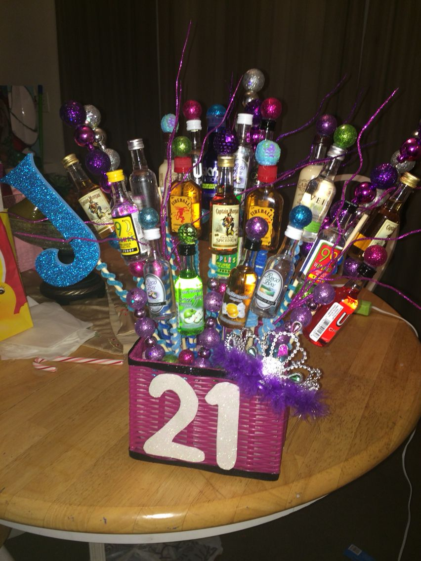 21st Birthday Alcohol Bouquet 21st Birthday 21st Birthday Gifts Alcohol Gifts