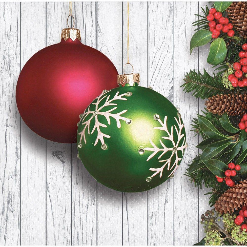 Christmas Ornaments Beverage Napkins Adult Unisex Red Christmas Ornaments Christmas Ornaments Christmas Tree Ornaments