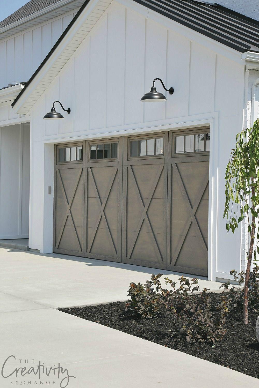 Modern Farmhouse Exterior Garage Close Up Farmhouseinterior