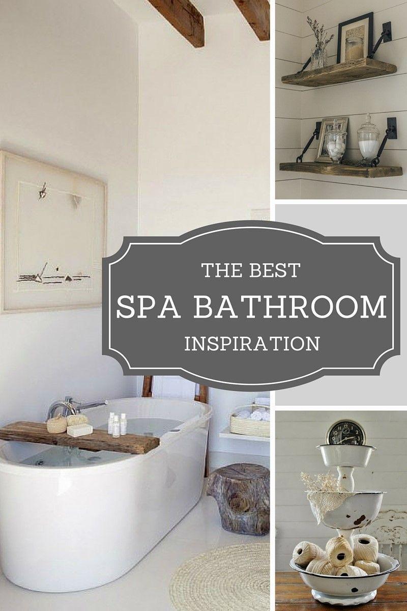 Beautiful Spa Bathroom Diy Ideas I Love The Bathtub Caddy Spa