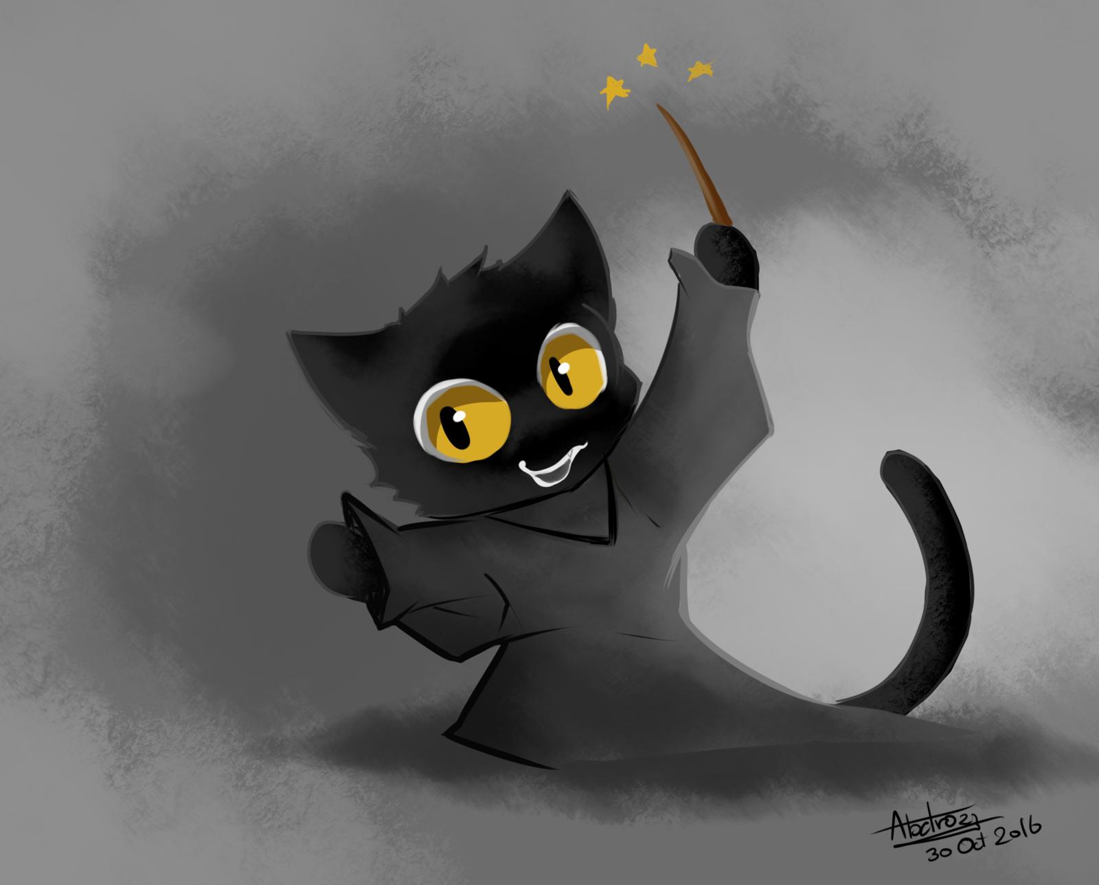 Pin By Izzulirfan On Izzul Irfan Black Cat Halloween Google Doodle Halloween Disney Characters