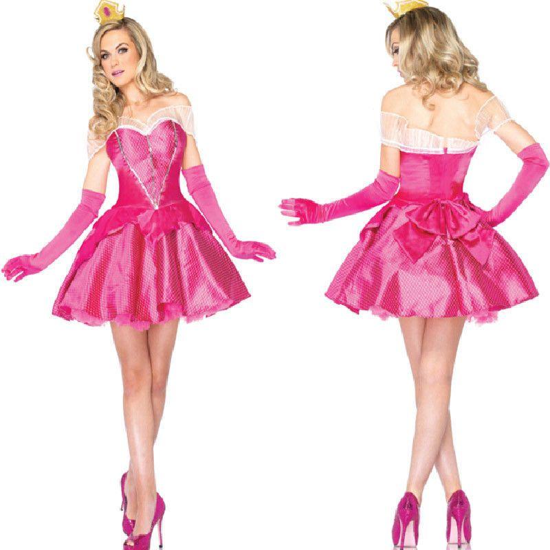 5214 adult sleeping beauty costume Women halloween princess aurora cosplay  dress  Wraithofeast  Dress  Party 20604eac336