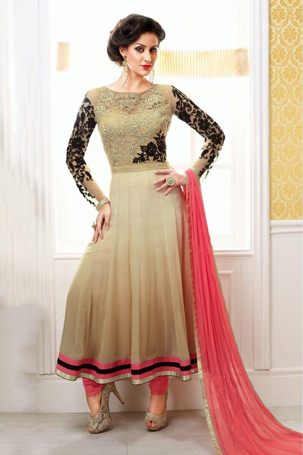 Designer salwar kameez mesmeric peach color net designer suit - Georgette Party Wear Anarkali Style In Beige Pink Colour Wedding Suitswedding Wearspring Weddingindian Bridal Fashiondesigner Anarkalidesigner Salwar