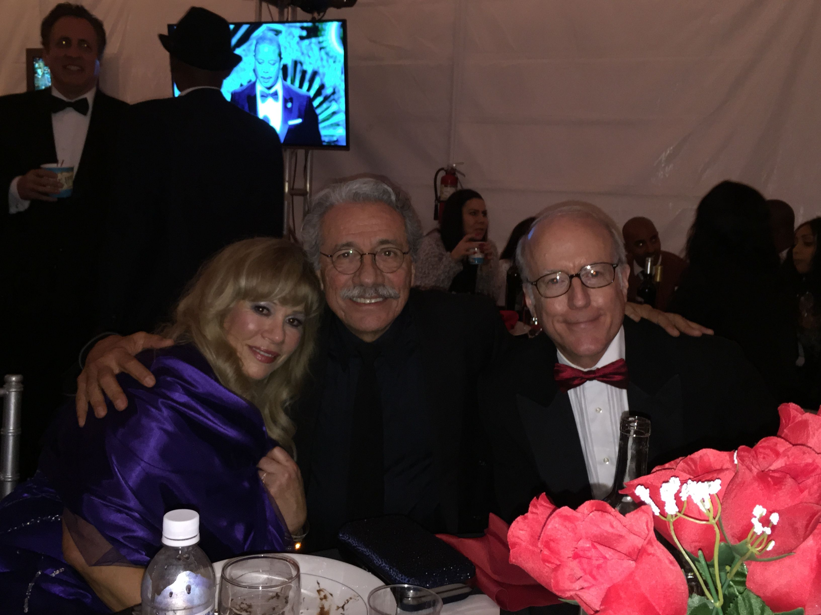 Daphna Ziman, Edward James Olmos, Rod Sherwood at the 2015 Annual Children Uniting Nations Oscar Party.