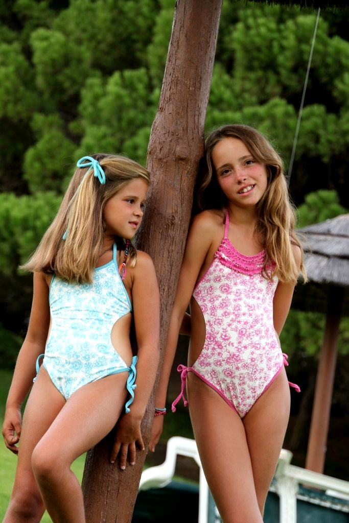young students in bathing suits