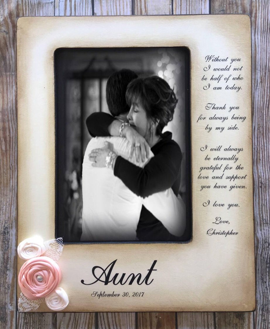 Aunt, For Aunt, Mothers Day Gift, Mother, Daughter,Wedding Frame ...