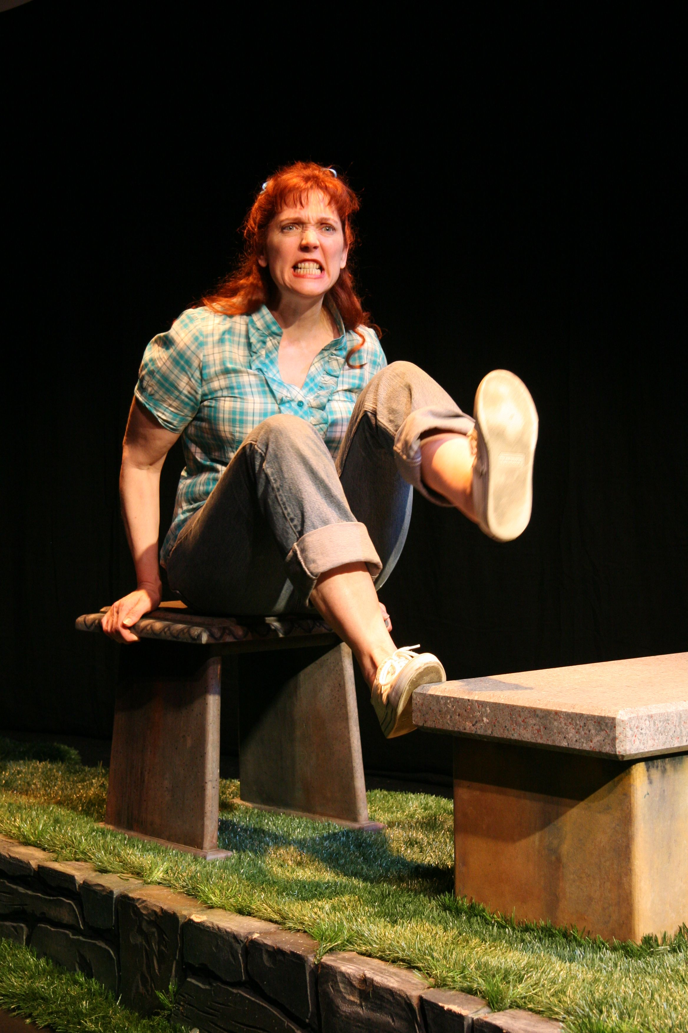 """From The Best of the Fest Benefit Performer: Clarinda Ross in her work """"Spit Like A Big Girl"""""""