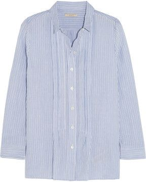 found this for you  -- Burberry Brit Striped cotton-blend shirt  -- http://www.hagglekat.com/burberry-brit-striped-cotton-blend-shirt/