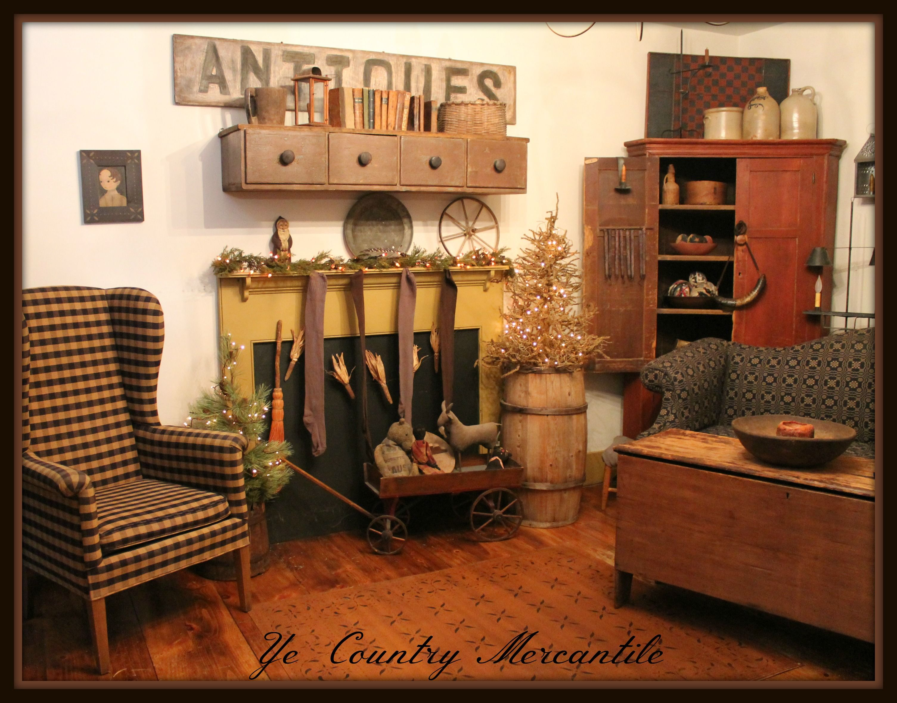 Home Of Doreen Piechota Primitive Livingroom Pinterest Primitives Country And Early American