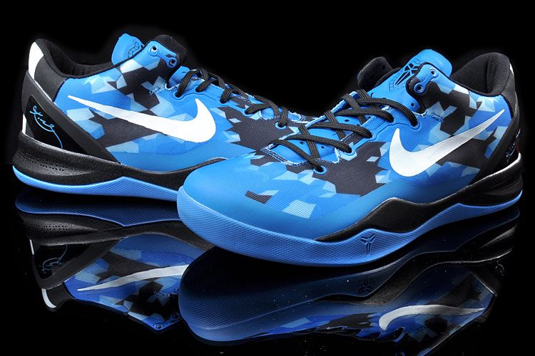release date: 1d8bf 934e8 Kobe 8 Blue Black White Basketball Shoes No.8928