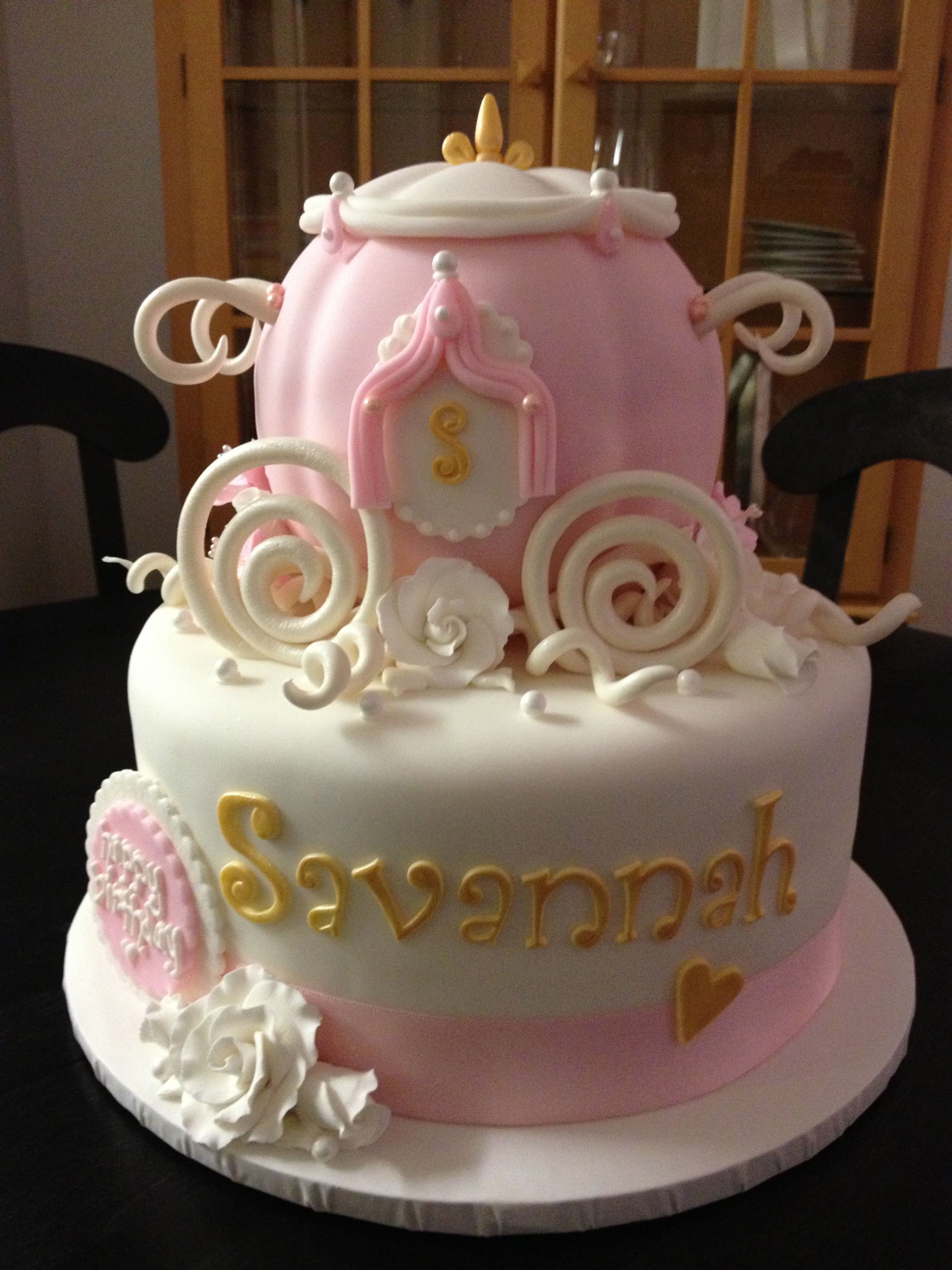 Cool The Princess Carriage Cake Sweet Marys New Haven Ct Personalised Birthday Cards Veneteletsinfo