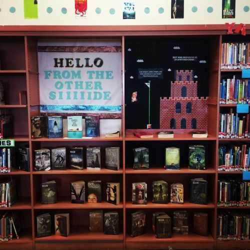 13 Awesome Library Displays Library Displays Mario Bros