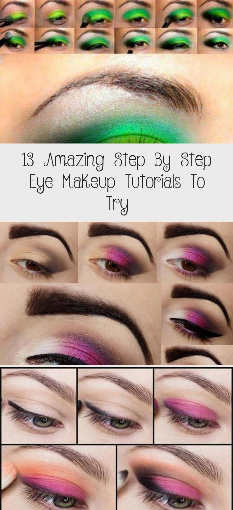 13 Amazing Step By Step Eye Makeup Tutorials To Try Pinokyo