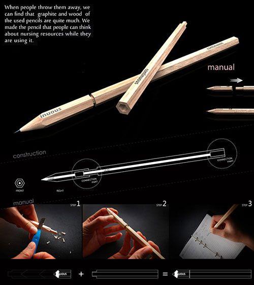 Great Environmental Idea - introducing the Continuos Pencils!