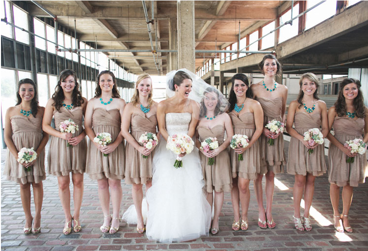 Pinner Said Vintage Rustic Bridesmaid Dress I Like The Tan Dresses Would Use Light Blue Jewelry To Match Bouquets Want