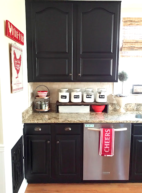 Painted Kitchen Cabinets With General Finishes Lamp Black Milk Paint And D Lawl Painting Kitchen Cabinets Outdoor Kitchen Cabinets Milk Paint Kitchen Cabinets