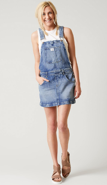 02d30d41200 Calvin Klein Dungaree Dress - Women's Clothing | Buckle | Denim ...