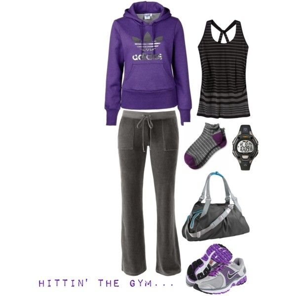 If I was one of those girls who got all snazzy for the gym.. cute look though!