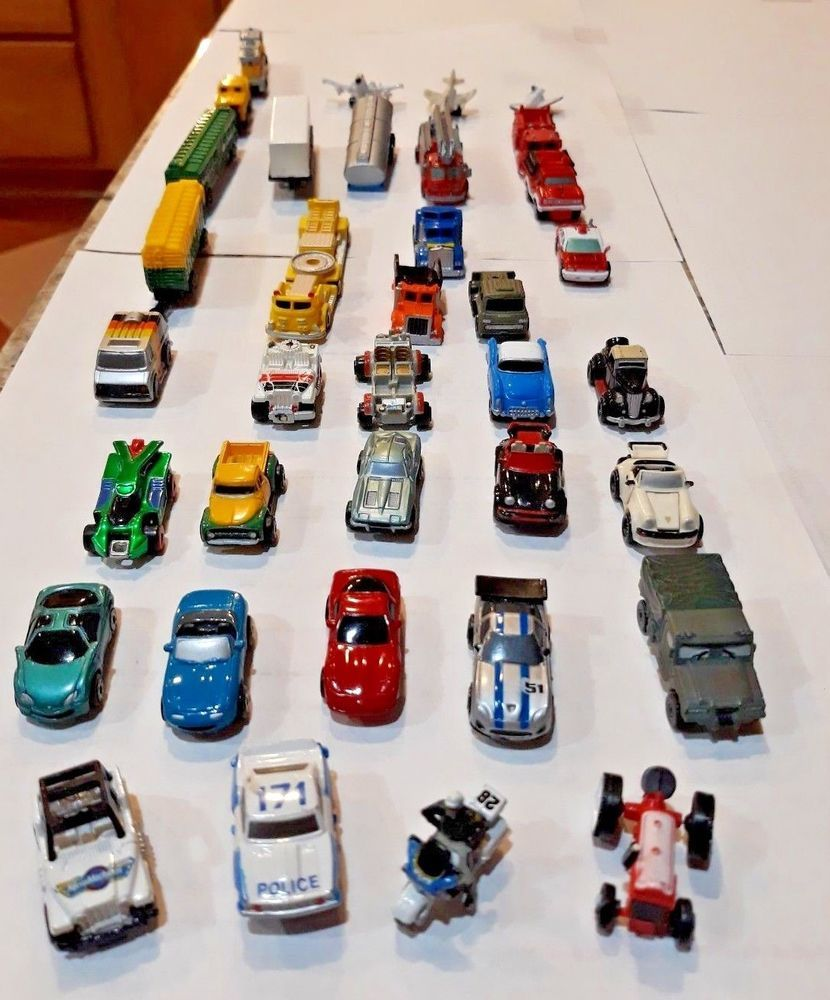 90s car toys  Micro Machines HUGE LOT Vehicles s Galoob Train police fire