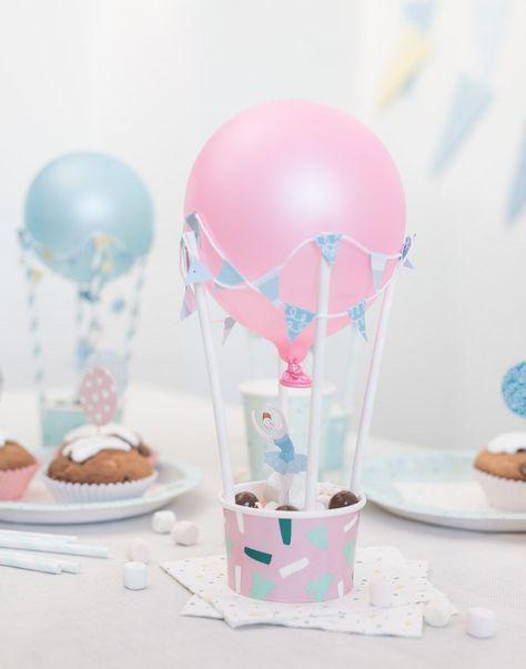 DIY Heißluftballons als Tischdekoration Selbstgemachte