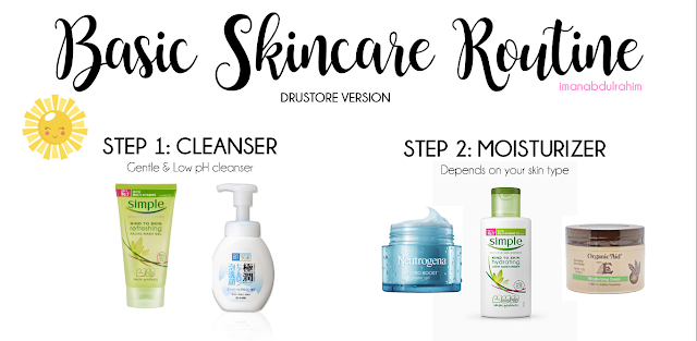 Skincare 101 Basic Skincare Routine Drugstore Version Basic Skin Care Routine Drugstore Skincare Routine Skin Care
