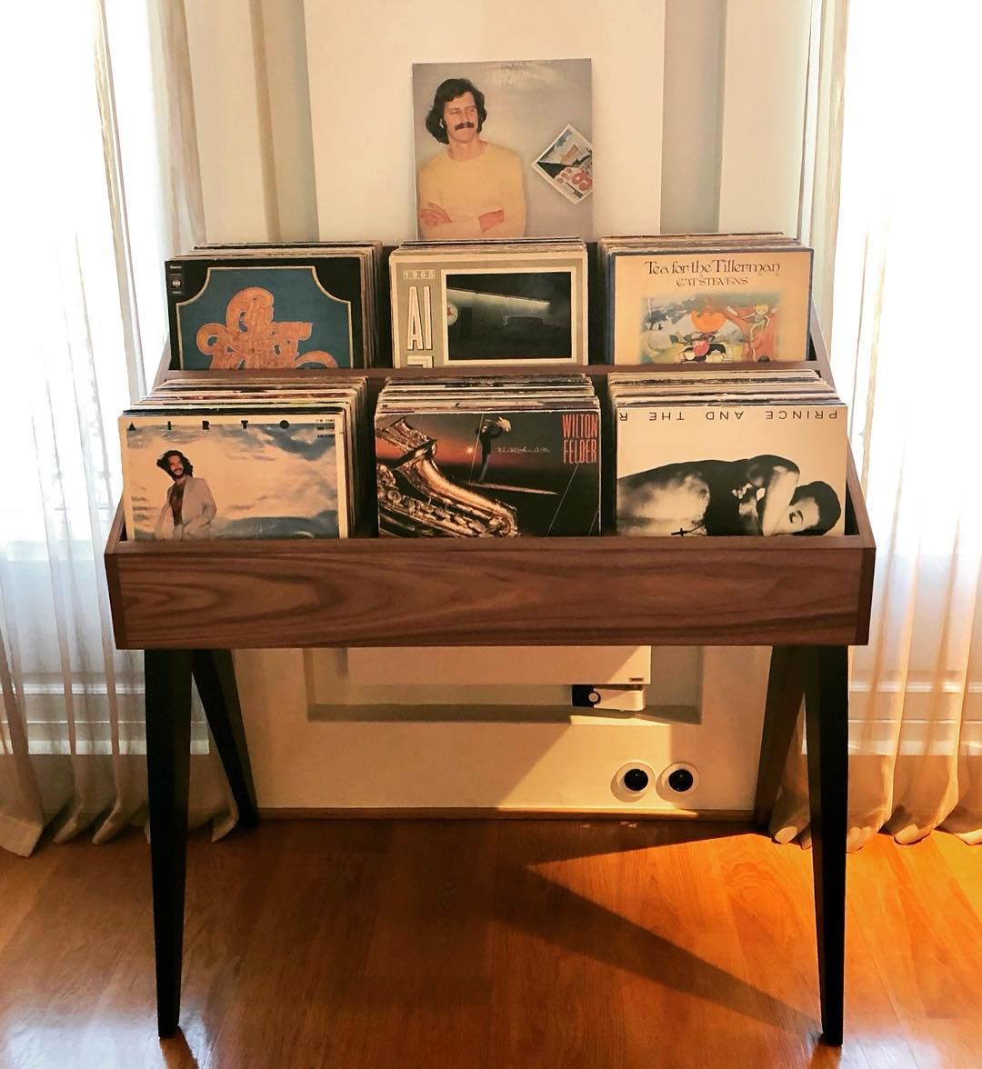 Atocha Design On Instagram Our Record Stand Sitting Pretty All Set Up In Her New Home In Paris Vinyl Weship In 2020 Record Stand New Homes Design